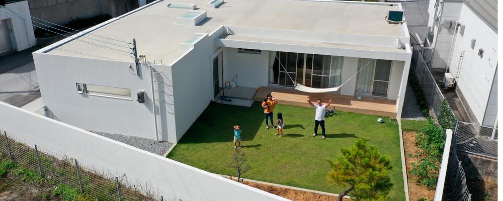 緑の庭とつながった 健やかな無添加の家
