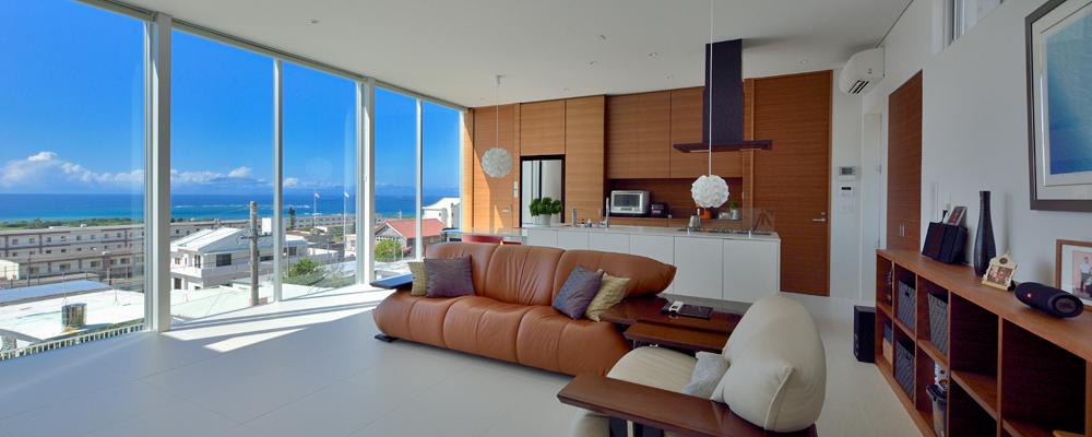 開放感を追求した 海を眺めるための家