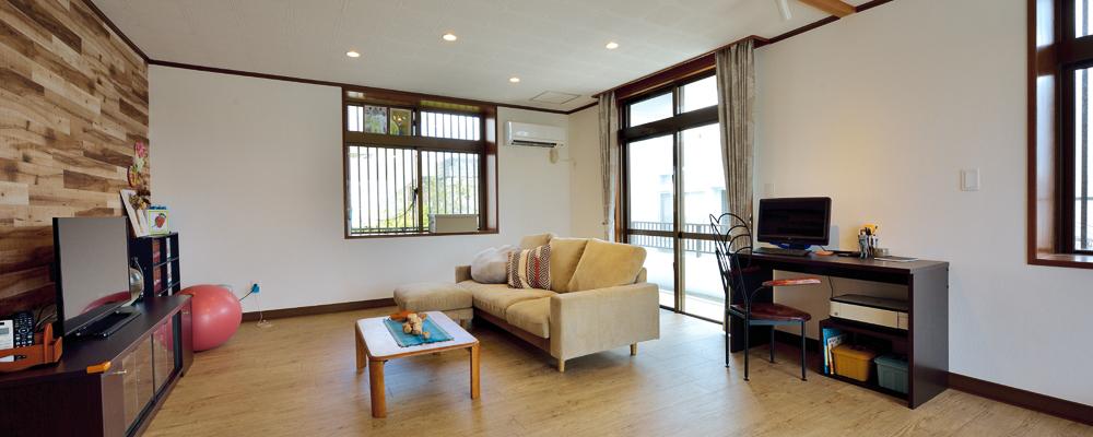 リノベでにぎわいを再生。彩り豊かな2世帯住宅